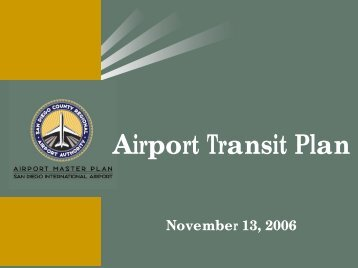 Airport Transit Plan - San Diego International Airport