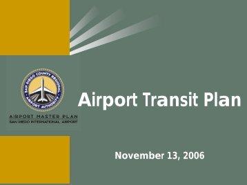 Airport Transit Plan - San Diego International Airport