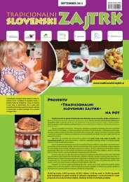 september 2011 - Tradicionalni slovenski zajtrk