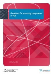 Guidelines for assessing competence in VET
