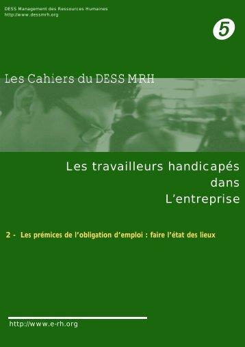 Les Cahiers du DESS MRH