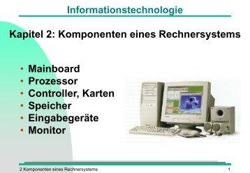 Rechnerorganisation und Systemarchitektur - Torsten E. Neck
