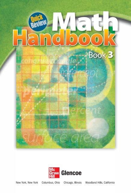 Quick Review Math Handbook, Book 3 - McGraw-Hill Higher