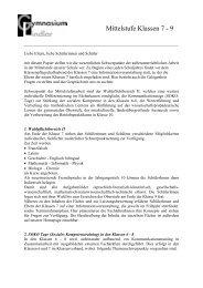 Allgemeine Informationen - Gymnasium Lindlar