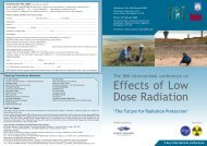 Effects of Low Dose Radiation - SEPR