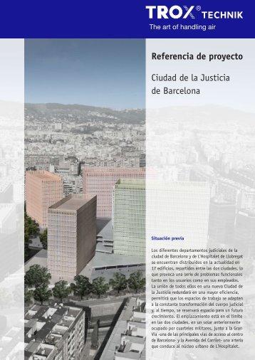 Referencia de proyecto Ciudad de la Justicia de Barcelona - Trox