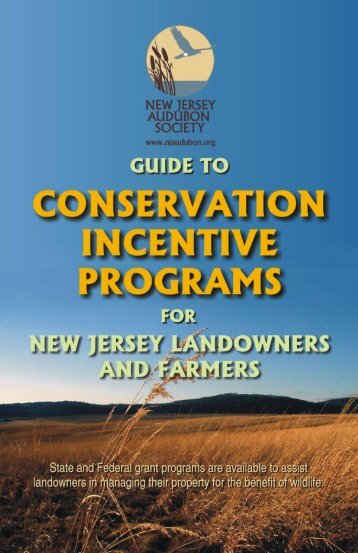Incentive Programs for NJ Landowners - New Jersey Audubon Society