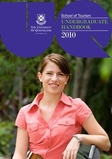 UNDERGRADUATE HANDBOOk - School of Tourism - University of ...
