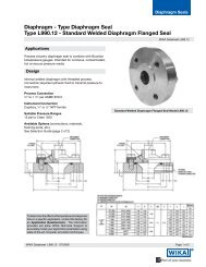 Standard Welded Diaphragm Flanged Seal Type L990.12 - WIKA