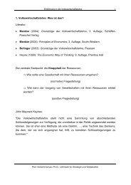 1. Volkswirtschaftslehre: Was ist das? Literatur: • Mankiw (2004 ...