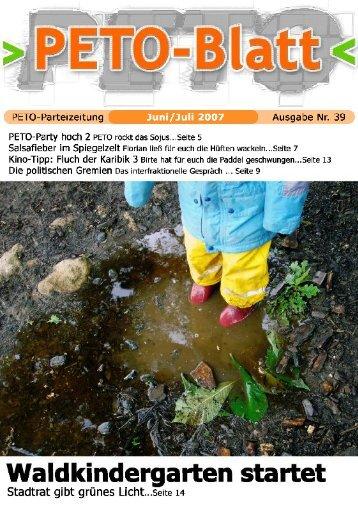 PETO-Blatt Juli 2007 herunterladen (pdf, 1,28 MB)