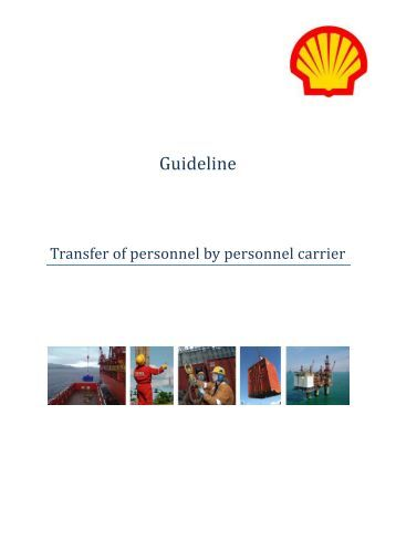 Shell Guideline - Transfer of personnel by personnel carrier