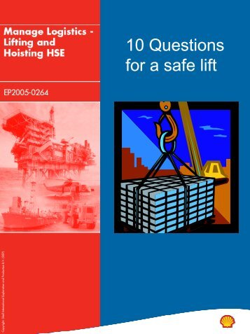 Shell's 10 questions for a safe lift