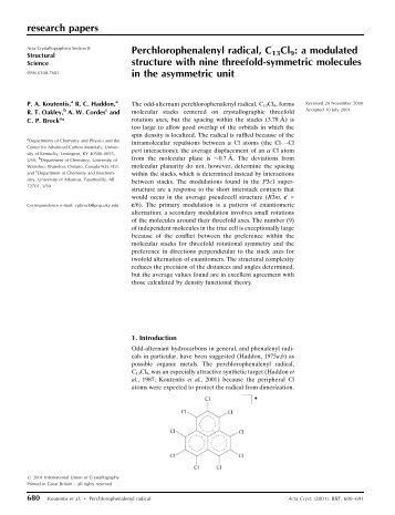 Research paper of chemistry