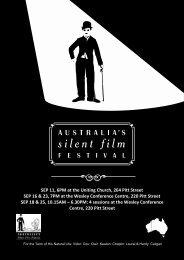 ASFF 2010 Program - Australia's Silent Film Festival