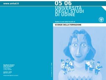 Guida Facoltà 2005/06 - Università degli studi di Udine