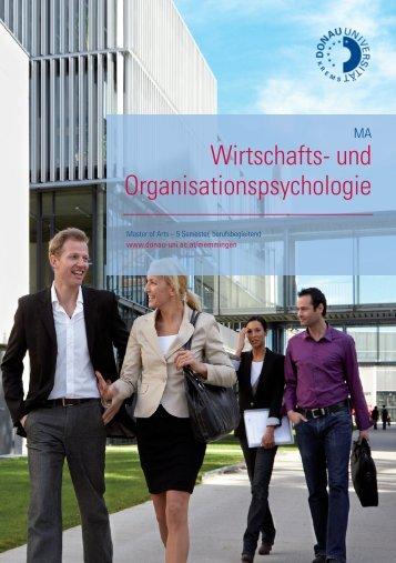 Wirtschafts- und Organisationspsychologie - B4B Schwaben