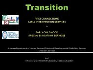 The Transition Conference - ADE Special Education
