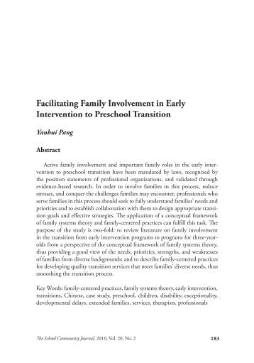 transition from early intervention to preschool tooty fruity vegie in preschools 106
