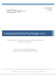 Evaluationsbericht 2011 - WWU Münster - Psychologie und ...