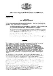 OVG 1 B 60/10 - Oberverwaltungsgericht Bremen