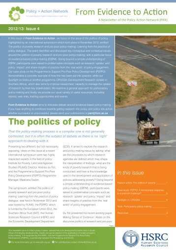 2013 - PAN Newsletter Issue 4 The politics of poverty.pdf