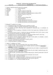 Exercício 1 - Responda V (verdadeiro) ou F (falso) - Portal Fortium