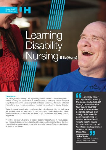 Learning Disability - University of Hertfordshire