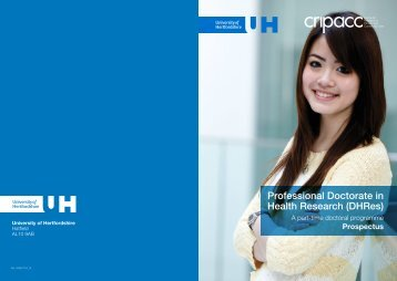 Download the prospectus (PDF - 2.2 Mb) - University of Hertfordshire