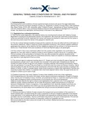 GENERAL TERMS AND CONDITIONS OF ... - Celebrity Cruises