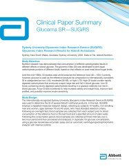 Clinical Paper Summary - Abbott Nutrition