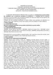 Edital n°8 - Resultado final na perícia médica - CESPE / UnB ...