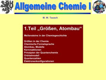 Größen, Atombau - Chemie und ihre Didaktik, Universität Wuppertal