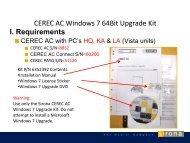 CEREC AC Windows 7 64Bit Upgrade Kit - Sirona Support