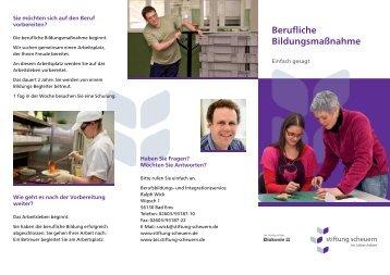 Berufliche Bildungsmaßnahme - Einfach gesagt - Stiftung Scheuern