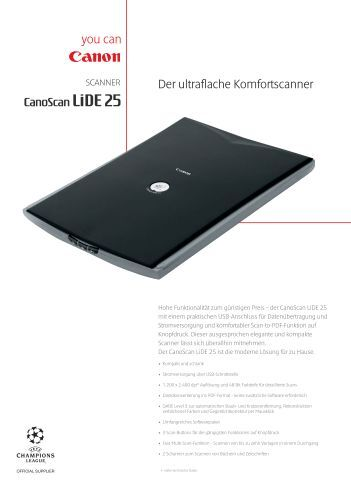 Canoscan Lide 25 Driver For Windows 10 64-bit