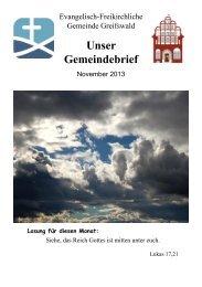 Unser Gemeindebrief - EFG-Greifswald