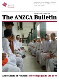 The ANZCA Bulletin - Australian and New Zealand College of ...
