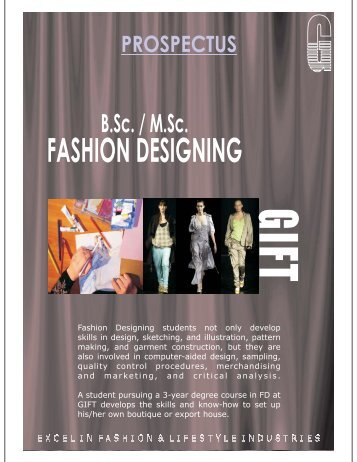 Prospectus FD 2011 for websit... - GIFT, Global Institute of Fashion ...