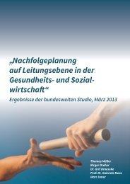 """""""Nachfolgeplanung auf Leitungsebene in der Gesundheits- und ..."""
