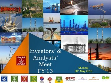 Investors' & Analysts' Meet FY'13 - ONGC