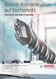 Bosch: Konzentration auf Fortschritt.