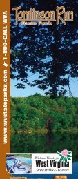 Tomlinson Run State Park Brochure - West Virginia State Parks