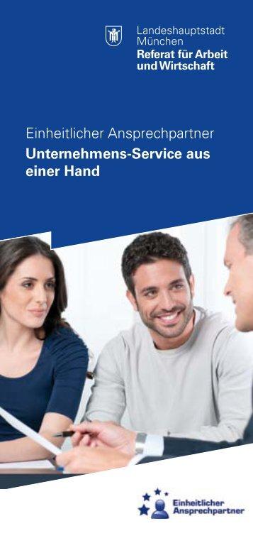 Einheitlicher Ansprechpartner Unternehmens-Service ... - Wirtschaft