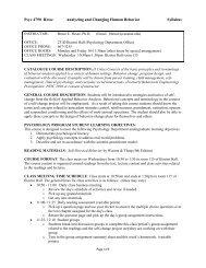 Syllabus - Psychology and Child Development