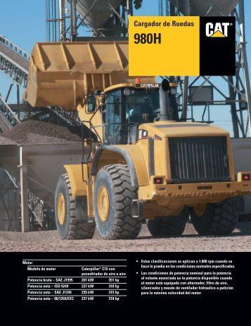 Specalog for Cargador de Ruedas 980H, ASHQ5631 - Kelly Tractor