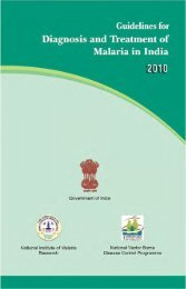 Guidelines for Diagnosis & Treatment of Malaria in India - NVBDCP
