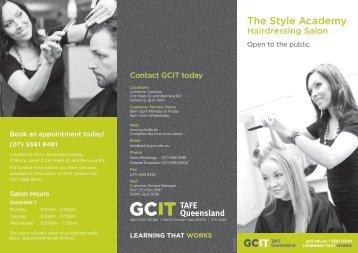 Hairdressing salon brochure