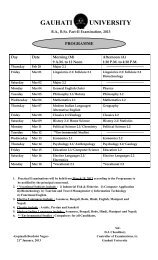 F Y  / S Y  B A  / B Sc / B Com Examination Time Table April