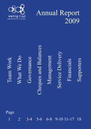 2009 Annual Report - Working It Out